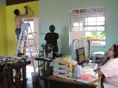 Thanks to the UCT Administrator Alison Martin's parents that volunteered to paint the UCT Office on a brief holiday to Barbados.