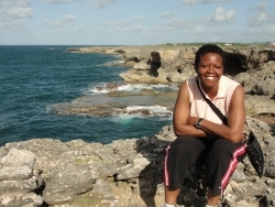 Seen here Dr Brenda Caldwell during her stay in Barbados.