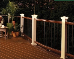 All decking will be of Composite Bamboo which is made of 100% recycled materials - 30% bamboo fibers and 70% plastic.